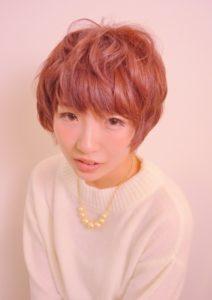 美フォルムのガーリーショートヘア